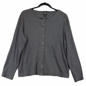 Eileen Fisher Snap up S charcoal cotton Cardigan